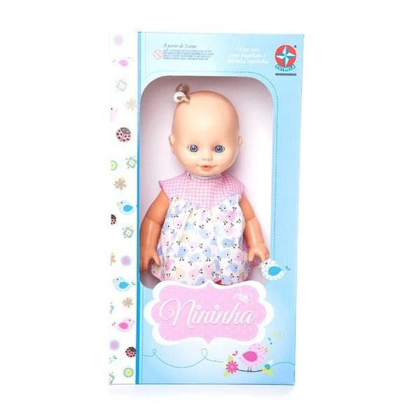 Boneca Nininha Vestida Rosa - Estrela