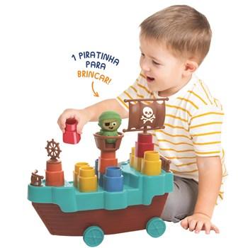 Brinquedo Fofo Blocos Barco Pirata – 13 pçs - Elka