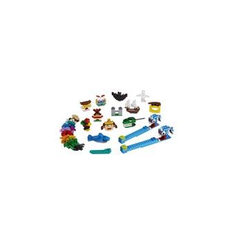 BRINQUEDO LEGO CLASSIC  - PEÇAS E LUZES COM 441 PEÇAS