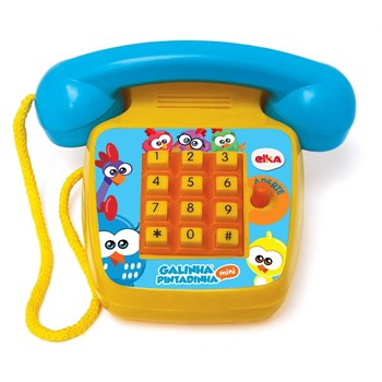 Mini Telefone Sonoro Galinha Pintadinha - Elka