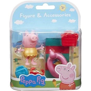 PEPPA PIG - FIGURA PEPPA AMARELA COM ACESSÓRIO - SUNNY 2317