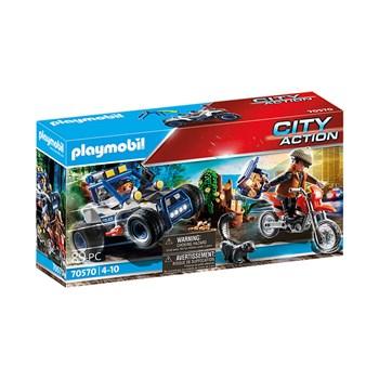 PLAYMOBIL CARRO OFF-ROAD DA POLICIA COM BANDIDO - SUNNY 2555