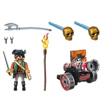 Playmobil Piratas - Pirata com Canhão - Sunny 1658
