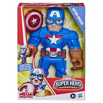 PLK SUPER HERO MEGA MIGHTIES CAPITÃO AMÉRICA - HASBRO E7105