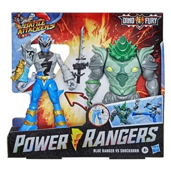 POWER RANGERS - RANGER AZUL VS SHOCKHORN - HASBRO F1261