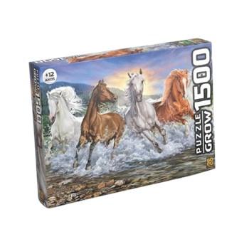 Quebra-cabeça 1500 Pçs Cavalos Selvagens - Grow 3744