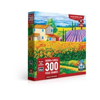 Quebra-cabeça 300 Pçs Campos de Girassóis - Toyster 2760