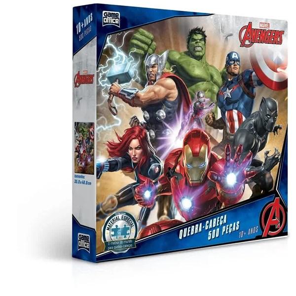 Quebra Cabeça 500 Peças Marvel Os Vingadores - Toyster 2745