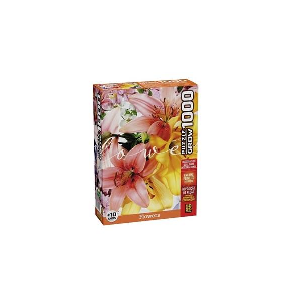 QUEBRA CABEÇA FLOWERS 1000 PEÇAS - GROW 4035