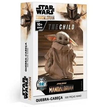 QUEBRA CABEÇAS 500 PEÇAS STAR WARS THE MANDALORIAN THE CHILD