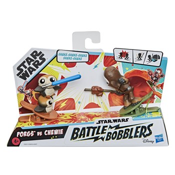 Star Wars Battle Bobblers Porgs VS Chewie - Hasbro E8026